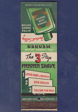 VINTAGE MENNEN SKIN BRACER AFTER SHAVE LOTION MATCHBOOK COVER