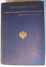 RESURRECTION Lyof N. Tolstoi Translated by Aline Pl Delano 1911 HC - P1