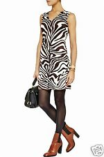 Michael Kors Luxus Kleid/Jerseykleid  Animal-Print Zebra Gr.42/XL Neu!