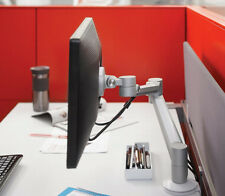 Monitor Arm Steelcase Volley Tilt Through Mount w/Base Brushed Aluminum M8 M2