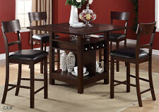 dinette table with wine rack