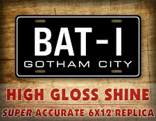 Batman BAT-1 '66 Batmobile License Plate Replica Movie Prop Gotham City Auto Tag