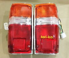 Rear Tail Lights Lamp Chrome RH LH For 84-88 Toyota Hilux Pickup LN50 RN50 RN65