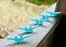 "4"" CLEAT Lot-5 Aquamarine Chock Boat Dock Coastal Seafoam BLUE-GREEN Galvanized"