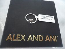 Alex and Ani ROMANCE HEART RING WRAP Sterling Silver New W/Tag Card Pouch & Box