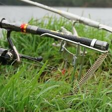 Stainless Steel Fishing Rod Automatic Double Spring Pole Stand Bracket Holder