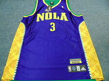 ADIDAS NBA AUTHENTIC NEW ORLEANS HORNETS MARDI GRAS CHRIS PAUL JERSEY SIZE 52