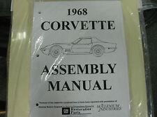 1968 CORVETTE (ALL MODELS) ASSEMBLY MANUAL