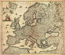 Carte antique de WIT 1700 Europe historique grand imprimé Poster réplique pam0883