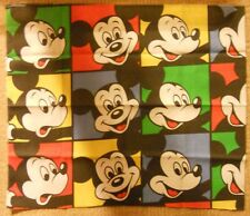 Reclaimed Vintage Retro Fabric Scrap Remnant - Disney Mickey Mouse #1