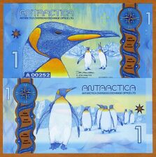 Antarctica, $1, 2015 (2016), Clear Window Polymer, New Design, UNC