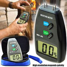 4 Pin Firewood Moisture Meter Digital Damp Detector Timber Wood Tester Sensor UK