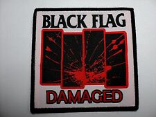 BLACK FLAG   DAMAGED     WOVEN PATCH
