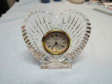 Waterford Crystal Ireland with Label Heart Clock quartz Free shipping to USA