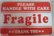 24X FRAGILE LABELS STICKERS POST PACK BOXES SATCHEL GLASS STAMPS ENVELOPES TAPE