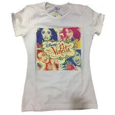 VIOLETTA camiseta en blanco con estampado multicolor de algodón talla 8 anni