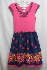 BONNIE JEAN Girls 14 Pink Blue Floral Spring Easter Birthday Party Dress NWT