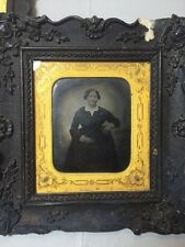 Old Vintage Antique Victorian Style Tin Pictures. Rare Frames And Picture