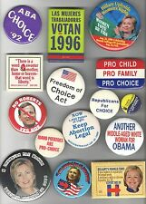 15 Vintage FEMINIST pin FEMINISM Women Issues PRO CHOICE Reproductive Rights Etc