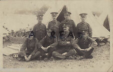 WW1 soldier group 6th Battalion Essex Regiment in tented camp