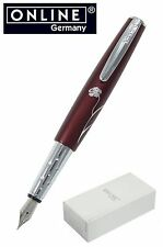 ONLINE Pens / Charm Aubergine Fountain Pen In Burgundy #39153 / Gift Boxed