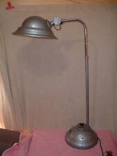 Antique Machine Age/Medical Floor Lamp Deco/Industrial Flying Saucer Doughboy