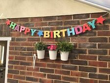 MULTI COLOUR HAPPY BIRTHDAY GARLAND BANNER PARTY BUNTING DECORATION