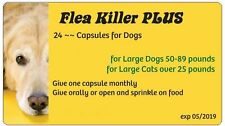 Flea Killer PLUS Meds for Dogs 50-89 lbs. 24 capsules, (Yellow), 2 years, 1 dog