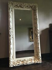 ANTIQUE SILVER 6FT X 3FT ORNATE SHABBY CHIC FRENCH LEANER DRESS WALL MIRROR