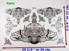 1PC THAI PHRA RAHU MOUTH MOON OM JAN STICKER DECAL RICH GOOD FORTUNE WINDOW ROOM