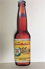"""Cerveza Pacifico Mexican Beer Bottle Display Sign - Tin Metal Sign, 22"""" x 6"""""""