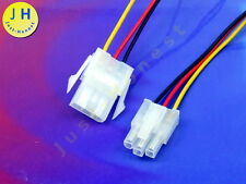 KIT BUCHSE+STECKER 3 polig ATX verdrahtet  Male+Female Connector wired #A640