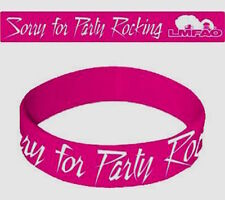 LMFAO Party Rocking Pink PVC Rubber Wristband