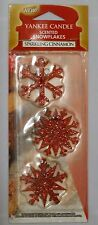 Yankee Candle Christmas Scented Snowflakes Sparkling Cinnamon New Sealed