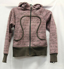 Lululemon Womens Scuba Sweatshirt Dance Floss Sing Travel Size 2 Good Used Cond