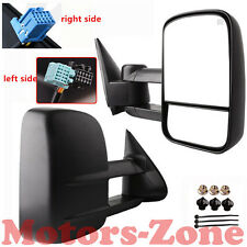 03-06 Silverado Sierra Pickup Towing POWER HEATED Telescoping Mirrors Set Tow