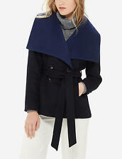 The Limited LUXE Collection Navy Blue Shawl Collar Peacoat Coat S Small T NWT
