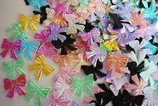 "200 Assorted Shiny Iridescent 3/4"" Ribbon Bow Applique/trim/paper craft H552"
