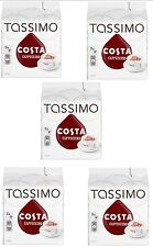 TASSIMO Costa Cappuccino Coffee Refill T-Discs Pods Capsule Pack of 5, 40 Drinks