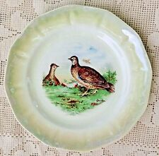 VINTAGE MID-20th CENTURY CERAMIC PLATE - GROUSE GAME BIRDS - SIGNED BY DAUDIN -