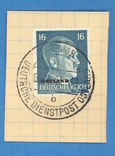 LATVIA GERMANY OVERPRINT OSTLAND USED CANCEL  1943 WOLMAR 148
