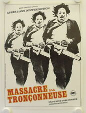 The Texas Chainsaw Massacre original release small french movie poster