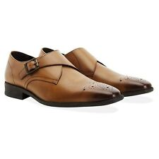 Redfoot Leather Basil Tan Punch Monk Gents Shoes UK 8/Euro 42 RRP £140