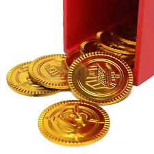 50Pcs Plastic Gold Coin Pirates Treasure Chest Loot Pirates Fan Party Favors