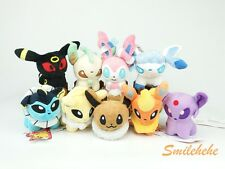 POKEMON Plush 5inches 9pcs/Lot Eevee Sylveon Eeveelution Toys Brand New Dolls
