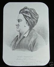 JV Glass Magic Lantern Slide JAMES THOMSON C1900 SCOTTISH POET HISTORY BRITANNIA