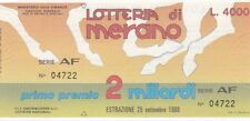 Biglietto lotteria Merano del 1988