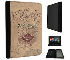 446 - The Marauder's Map Harry Style Case Flip Cover For Kindle Fire 7'' 2015