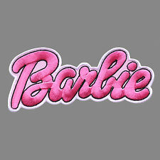 Large Barbie Doll Toy Children Cute Embroidered Patch Iron Logo Emblem Custom