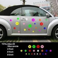 Car 40 flowers multi color Door Decals for Beetle Vinyl Stickers #1002
